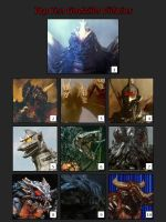 Top Ten Godzilla Villains by artdog22