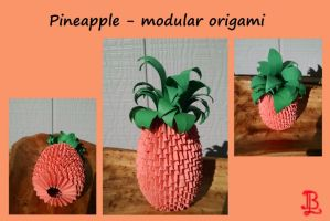 Pineapple - modular origami by adnileb