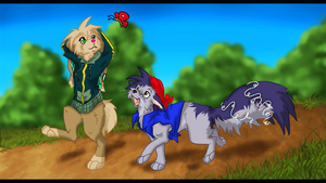 Taking a stroll with someone I don't really know by Blackwolfpaw