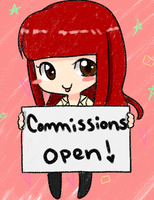 Open Commissions Sign by HollieBiscuit