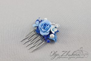Comb hair with flowers by polyflowers
