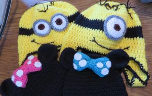 Minion Hats & Mini Mouse Hats by Marvel-Spell