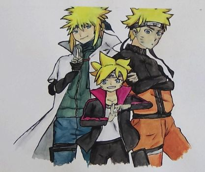 Naruto watercolor drawing by AliceColours