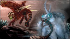 Pango's battle by Anarchpeace