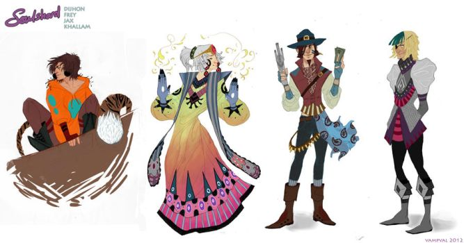Character Designs by Vampval