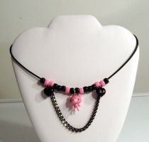 Gloomy bear necklace by funkyfunnybone