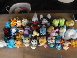 pokemon plush collection by bornthiswayfox