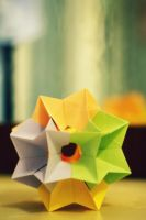 shooting star kusudama by leezarainboeveins