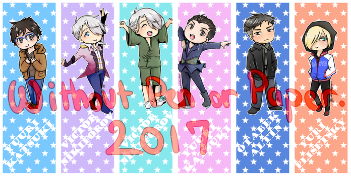 Yuri On Ice Bookmarks by Red-Baby