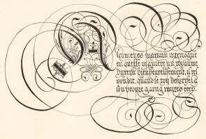 George de Carpentier's calligraphy by Errance