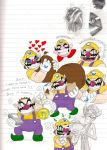 Wario doodles by Mickeymonster