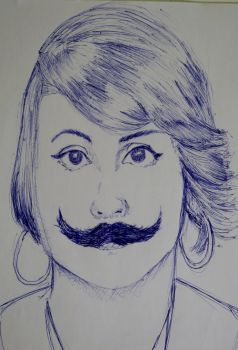 Mariah with a mustache by Falapoco