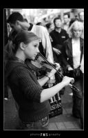 the girl with the violin by fxcreatography