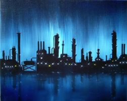 Refinery After the Rain by wanred