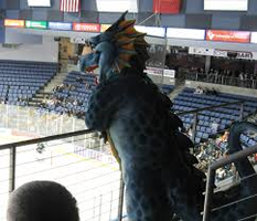 Dragon at a Hockey Game by SapphireLover4505