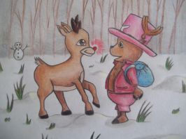 Chopper and Rudolph! by emokitten687