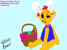 Happy Easter from Atticus by BlueTigress94