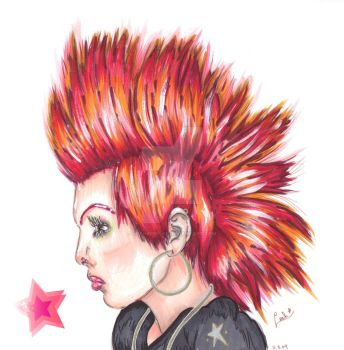 Jeffree Star Spiked Hair by Leahzebelle