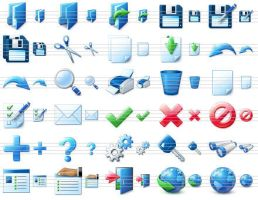 Blue Icon Library by Ikont