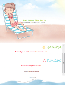 Free Summer Time Journal Skin by PeppermentPanda