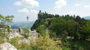Tower in the green (San Marino) by lastwinterleaf