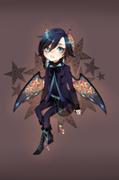 Adopt:: Stained glass demon CLOSED by Pandastrophic