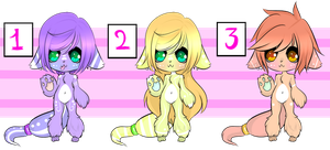 Kitty Adopt Batch (200pts each) (1 Left) by Kitty2U-Chan
