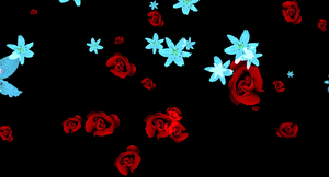 MMD Falling Roses and Lillies DL by ChestNutScoop