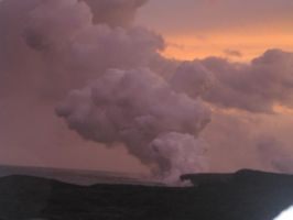Fire Above and Below Hawaii by kurios-kat