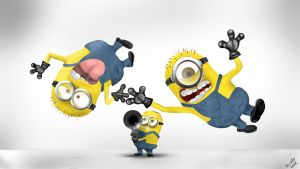 Despicable Me! Minions! by QuaintArt