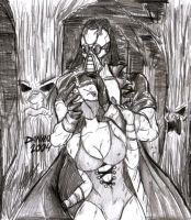 Kabal vs Kitana by TheInsaneDarkOne