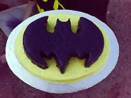 Batman cake by ObsessiveXD