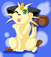 Cute Meowth X3 by TwilightTheEevee