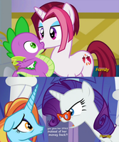 when ever Rarity has an unsatisfied customer by titanium-pony