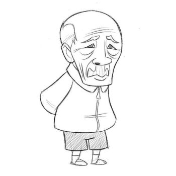Old Asian Man by sykohyko
