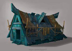 Blue House by Catell-Ruz