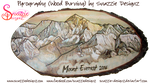 Mount Everest Pyrograph (Woodburning) by snazzie-designz