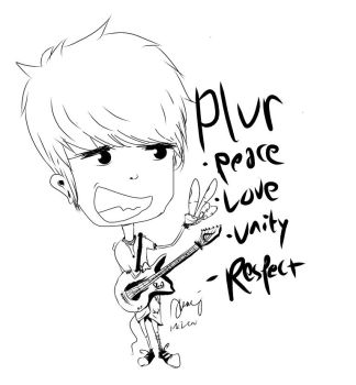 PLUR MUSICIAN CARTOON by Mazewbz