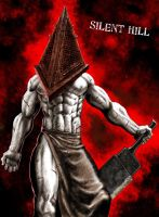 Pyramid head from SILENT HILL by nasumaru