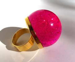 Galaxy Gobstopper ring by pinkminx