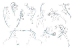 Gesture Drawings Punches 1 by whymeiy