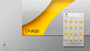 Orange JUICE GO Launcher EX Theme by weirdoo