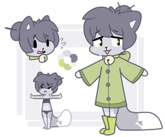 Nervous Cat in a Sweater ADOPT OPEN by QTipps