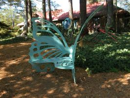 Butterfly Bench Stock 2 by HauntingVisionsStock