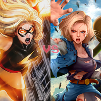 Death Battle idea: Captain Marvel vs Android 18 by ItemShoplifter