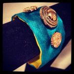 Button Bracelet Cuff by Ava-Lyn