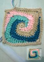 Crochet Granny Square part 02 by seawaterwitch
