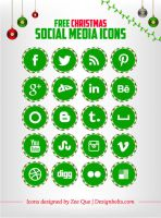 Free Christmas Social Media icons by Designbolts