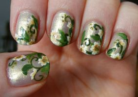 Flowers Nail Art by Lyralein