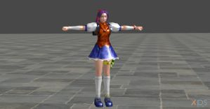 KING OF FIGHTERS ATHENA W.I.P by Oo-FiL-oO